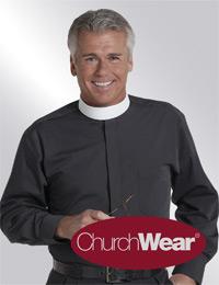 Black LSNB clergy shirt