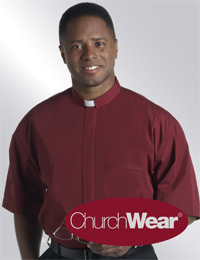 Burgundy SSTAB clergy shirt