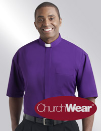 Purple SSTAB clergy shirt